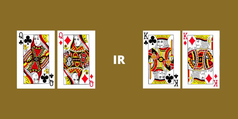 Pokerio kortų stiprumas - damos ir karaliai