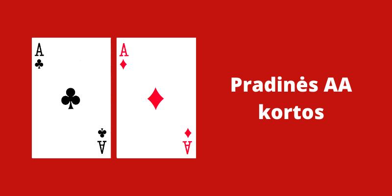 Pradinės pokerio kortos - AA
