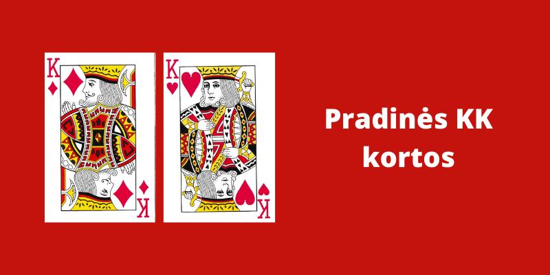 Pradinių pokerio kortų reikšmės - KK