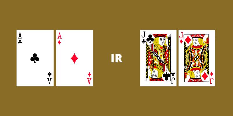 Tūzai ir bartukai - pokerio kortų stiprumas ir skaičiavimas