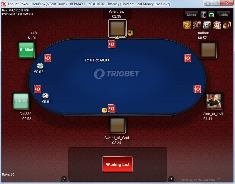 Triobet Holdem pokeris